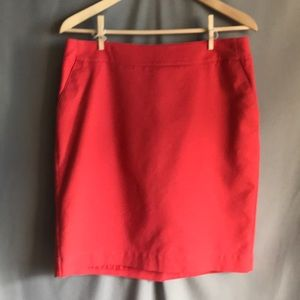 Merona stretch coral pencil skirt